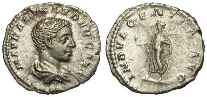 Ancient Coins - SEVERUS ALEXANDER AS CAESAR. DENARIUS. VERY RARE. NICE PORTRAIT