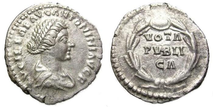 Ancient Coins - LUCILLA,  w.  of  L.  Verus.  DENARIUS.  INTERESTING  REVERSE.