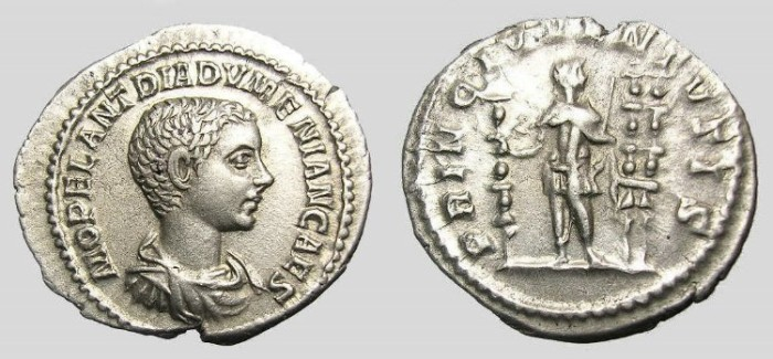 Ancient Coins - DIADUMENIAN  DENARIUS.  GREAT  QUALITY.