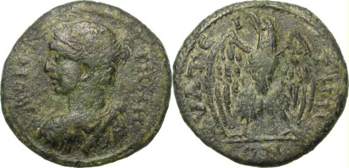 Ancient Coins - PSEUDO-AUTONOMOUS ISSUE FROM THYATEIRA, LYDIA