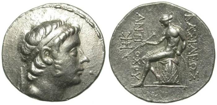 Ancient Coins - ANTIOCHOS III THE GREAT. TETRADRACHM. ANTIOCH. VERY NICE !