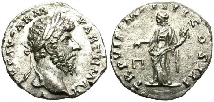 Ancient Coins - LUCIUS VERUS. (AD 161-169)  SILVER DENARIUS. ATTRACTIVE PORTRAIT.
