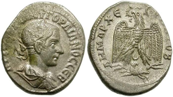 Ancient Coins - GORDIAN III.  BILLON TETRADRACHM.  ANTIOCH, SYRIA