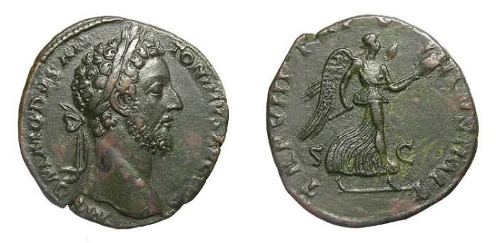 Ancient Coins - COMMODUS  SESTERTIUS.  SCARCE.