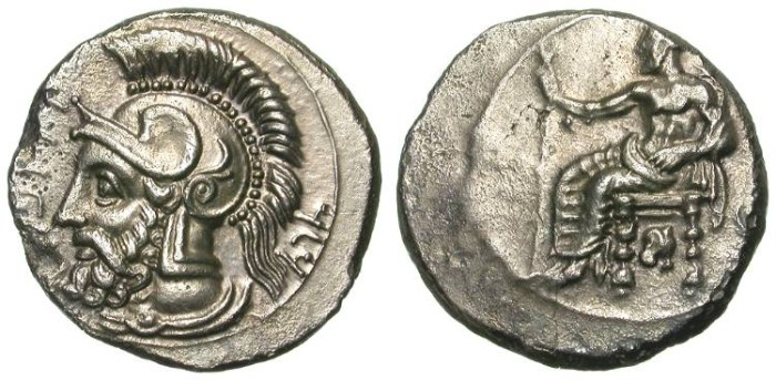 Ancient Coins - TARSUS. STATER. PHARNABAZOS. aEF/-VF. HIGH QUALITY PORTRAIT.