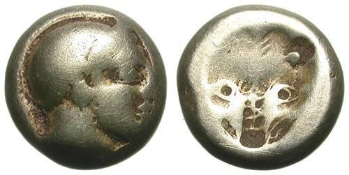 Ancient Coins - MYTILENE, LESBOS. ELECTRUM HEKTE. SO AFFORDABLE !