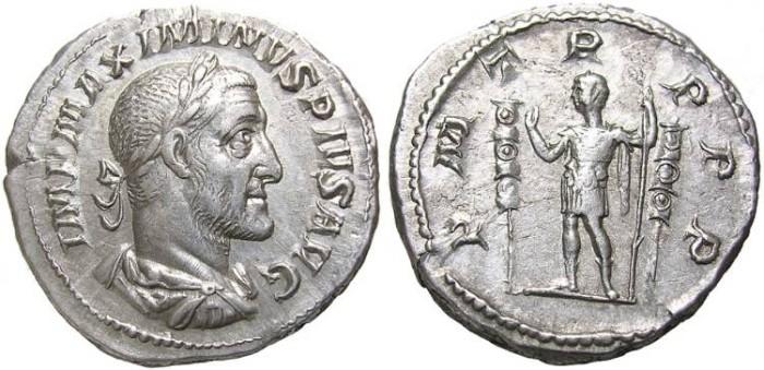 Ancient Coins - MAXIMINUS  I  DENARIUS. A. D. 235-238.  GOOD  QUALITY.