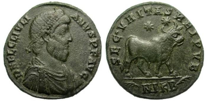 Ancient Coins - JULIANUS II.  DOUBLE MARIORINA.  NIKOMEDIA MINT. NICE PATINA.
