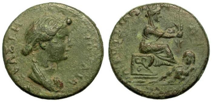 Ancient Coins - PROVINCIAL AE. AUGUSTA, CILICIA. IVLIA-LIVIA. VERY RARE