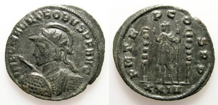 Ancient Coins - PROBUS. ANTONINIAN. NICE VF. SISCIA. INTERESTING BUST VARIANT