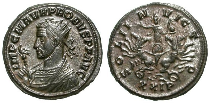 Ancient Coins - PROBUS. AE ANTONINIAN. SISCIA. NICE EF. SOLI INVICTO. EXTREMELY ATTRACTIVE ISSUE !