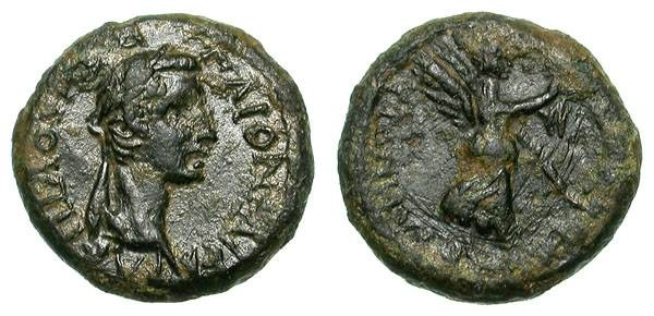 Ancient Coins - CALIGULA. SMYRNA, IONIA. RARE EMPEROR !