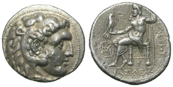 Ancient Coins - SELEUKOS I. TETRADRACHM. A VF. BABYLON MINT. A NICE ISSUE FROM THE FOUNDER OF THE SELEUKID KINGDOM !