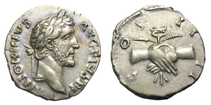Ancient Coins - ANTONINUS  PIUS  DENARIUS.INTERESTING  REVERSE.