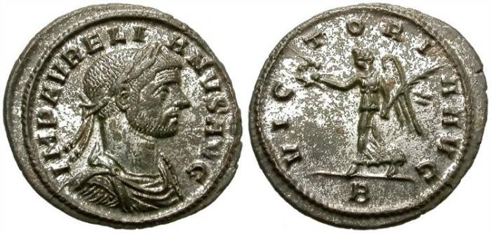 Ancient Coins - AURELIAN. AE DENARIUS. NICE CONDITION
