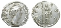 Ancient Coins - FAUSTINA  SENIOR  DENARIUS.  GREAT  QUALITY.