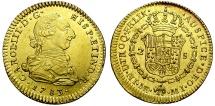 World Coins - CHARLES III. GOLD 2 ESCUDOS. 1783. LIMA. EXCEPCIONAL QUALITY.