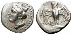 Ancient Coins - AMISOS, PONTUS. SIGLO. 435-370 B.C NICE DRACHM WITH PERSIC STANDARD./2