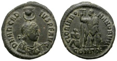 Ancient Coins - ARCADIUS. AE NUMMUS. CONSTANTINOPLE MINT. VERY NICE COIN