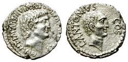 Ancient Coins - MARC ANTHONY. SILVER DENARIUS. LUCIUS ANTONIUS ON REV. VERY RARE. NICE ISSUE/2