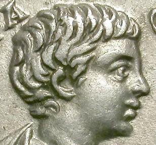 Ancient Coins - GETA. RARE DENAR. CASTOR ON REVERSE. NICE !