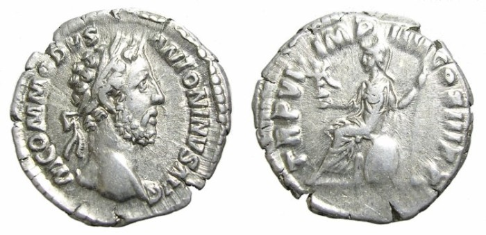 Ancient Coins - COMMODUS  DENARIUS.  GOOD  PORTRAIT.
