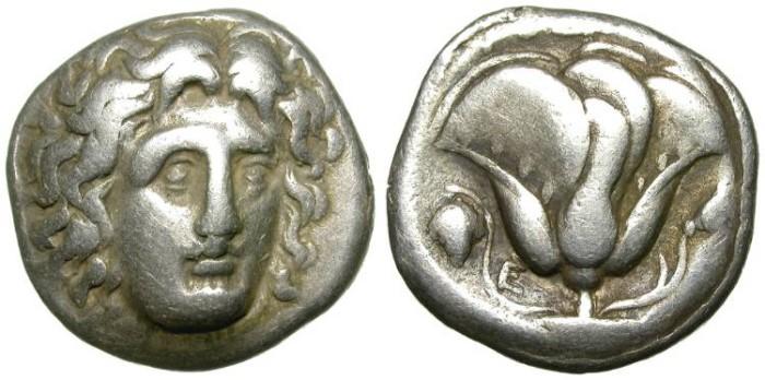 Ancient Coins - RHODOS. DIDRACHM. MORE THAN DECENT SAMPLE. GOOD SILVER QUALITY