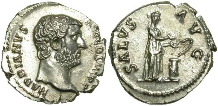 Ancient Coins - HADRIAN. SILVER DENARIUS. EXCELLENT CONDITION.