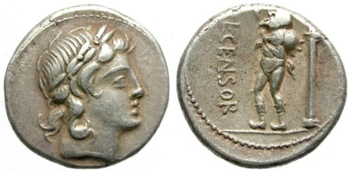 Ancient Coins - ROMAN REPUBLIC. SILVER DENARIUS. MARCIA 24. NICE COIN