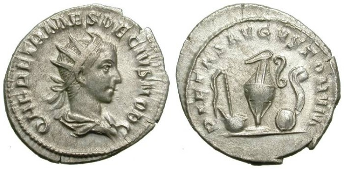 Ancient Coins - HERENIUS ETRUSCUS. ANTONINIAN. GOOD PORTRAIT AND NICE REVERSE