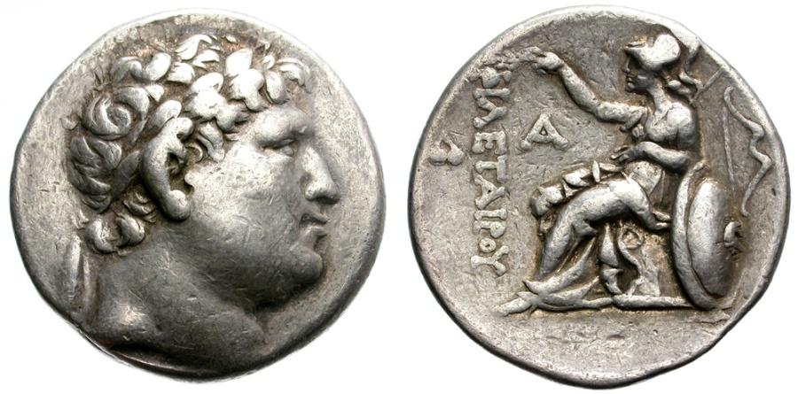 Ancient Coins - KINGDOM OF PERGAMON. ATTALOS UNDER THE NAME OF PHILETAIROS. SILVER TETRADRACHM