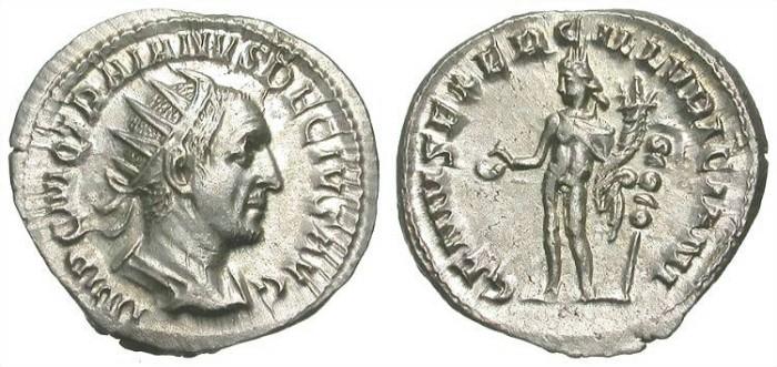 Ancient Coins - TRAIAN DECIUS. SILVER ANTONINIAN. EF. SO BEAUTIFUL COIN !