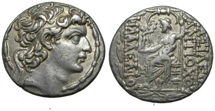 Ancient Coins - ANTIOCHOS XIII. A EF. A DESIRED RARITY. SUPERB COIN !
