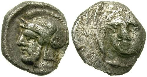 Ancient Coins - TARSOS, CILICIA. SILVER OBOL. DATAMES. NICE FRACTION