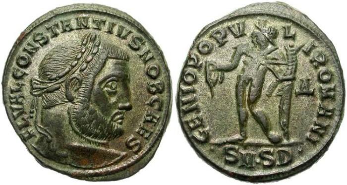 Ancient Coins - CONSTANTIUS. FOLLIS.  SERDICA MINT. GOOD GENERAL CONDITION. NICE PATINA.