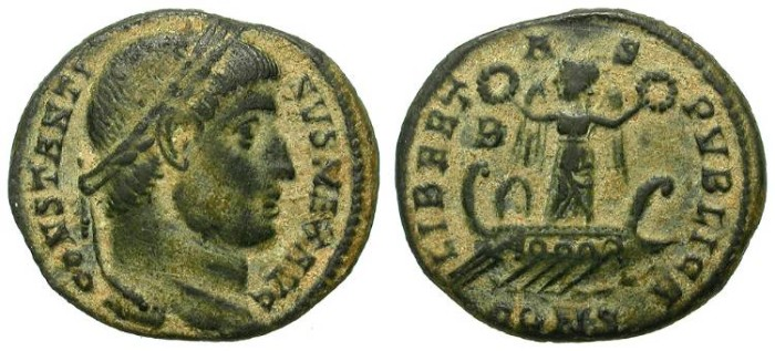 Ancient Coins - CONSTANTINUS I. FOLLIS. INTERESTING REVERSE: LIBERTAS PUBLICA