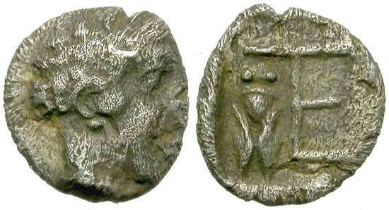 Ancient Coins - KOLOPHON, IONIA.  TARTEMORION.  RARE ISSUE STING FLY.