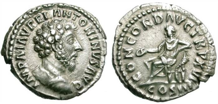 Ancient Coins - MARC AUREL. SILVER DENARIUS. NICE QUALITY. DRAPPED BUST