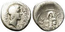 Ancient Coins - ROMAN REPUBLIC. SILVER DENARIUS. SICINIA 1. AFFORDABLE