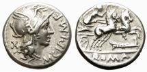 Ancient Coins - ROMAN REPUBLIC. CIPIUS.  115-114 BC. DENARIUS. NICE CONDITION.