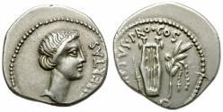 Ancient Coins -  BRUTUS. 42 BC. AR DENARIUS. NICE COIN. ATTRACTIVE IMPERATORIAL EMISSION.