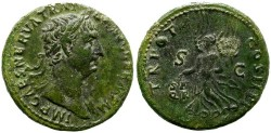 Ancient Coins - TRAJAN. AS. NICE BUST.