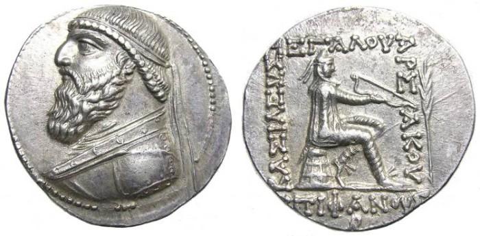 Ancient Coins - MITHRADATES II  AR  TETRADRACHM.  WONDERFUL  COIN.