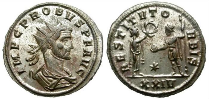 Ancient Coins - PROBUS. BILLON ANTONINIANUS. BEAUTIFUL SISCIA EMISSION. FANTASTIC CONDITION
