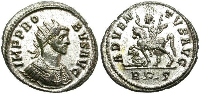Ancient Coins - PROBUS. (276-282 A.D)  ANTONINIANUS. ROME MINT. FULL SILVERING.