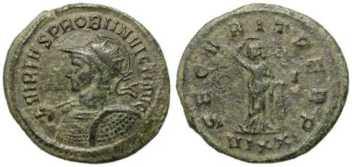 Ancient Coins - PROBUS. aE ANTONINIANUS. RARE INVICTUS TITULAIRE /2