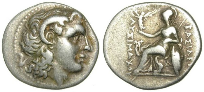 Ancient Coins - LYSIMACHOS. DRACHM. ATTRACTIVE ISSUE. GOOD SILVER