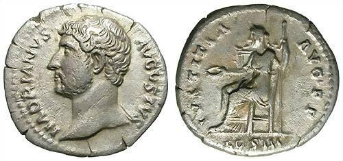 Ancient Coins - HADRIAN. DENAR. VF. LEFT SIDE PORTRAIT. RARE