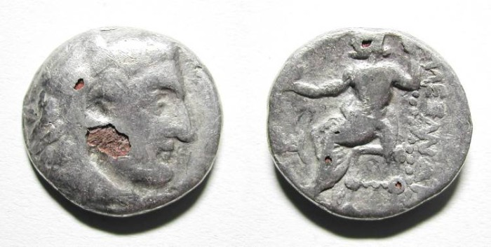 Ancient Coins - ALEXANDER THE GREAT. FOUREE DRACHM. VERY CURIOUS !