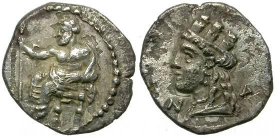 Ancient Coins - NAGIDOS, CILICIA. OBOL. NICE MINIATURE.